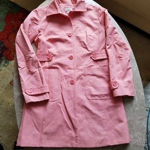Ann Taylor LOFT Pink Trench Coat S